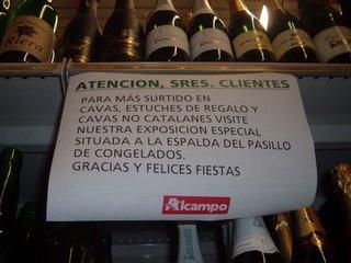 En Alcampo recomiendan no comprar productos catalanes